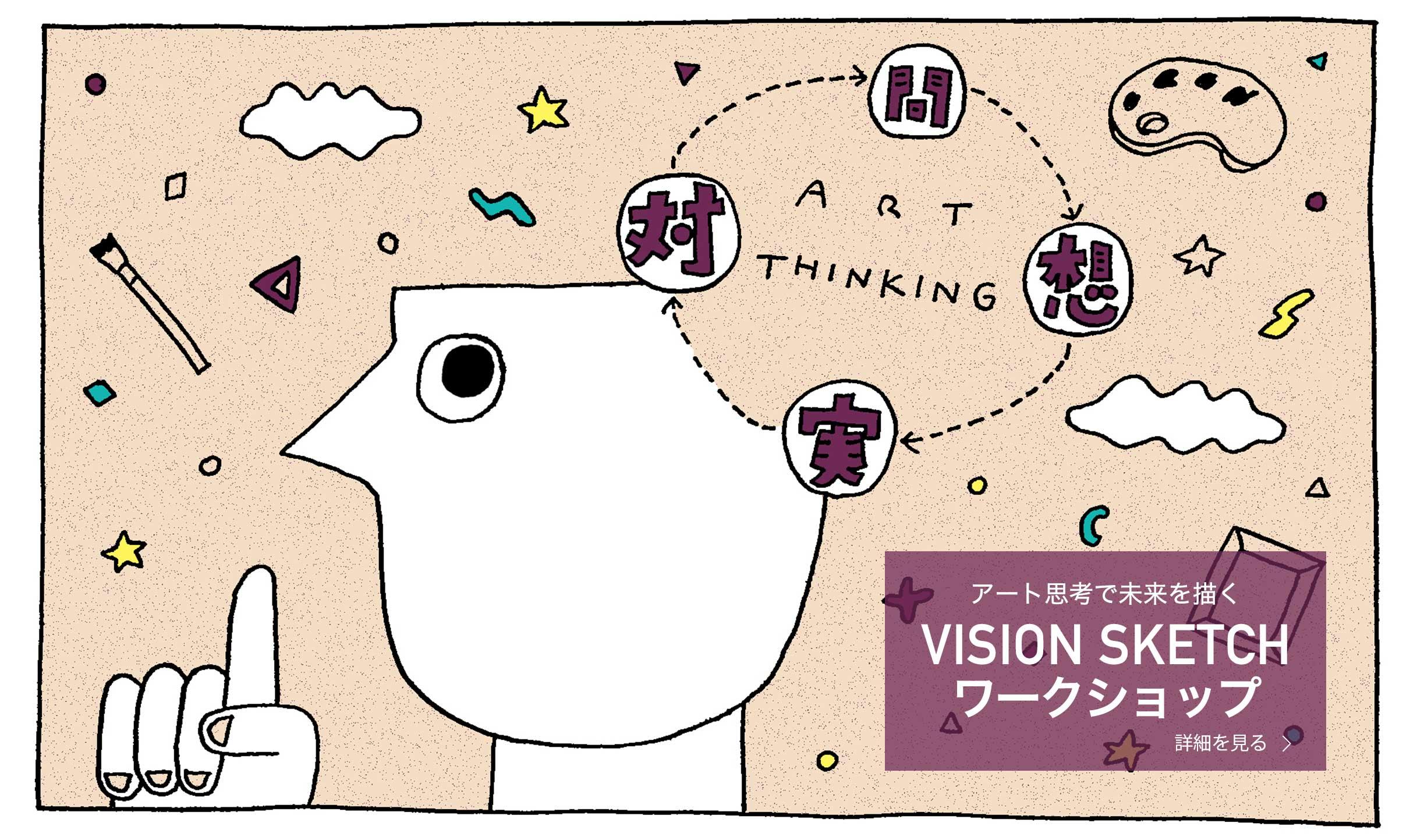 個人の思いをビジネスに可視化する。VISION SKETCH